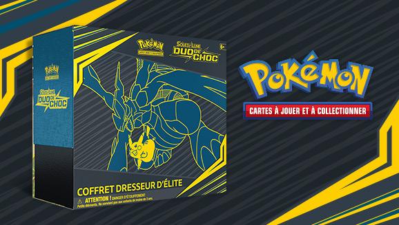 JCC Pokémon : Coffret Dresseur d'élite <em>Soleil et Lune – Duo de Choc</em>