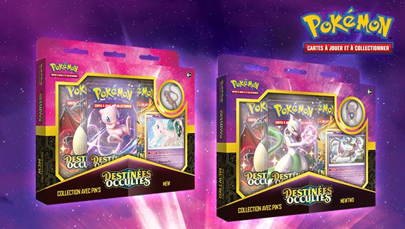 Collection avec pin's <em>Destinées Occultes</em> – Mewtwo/Mew