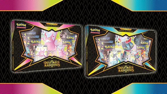 Collections Premium <em>Destinées Radieuses</em> – Nostenfer-VMAX et Lanssorien-VMAX chromatiques