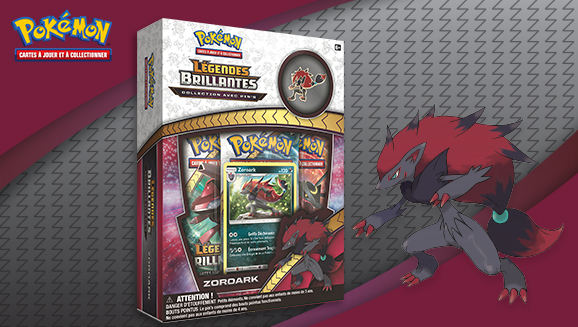 Collection avec pin's <em>Légendes Brillantes</em> – Zoroark