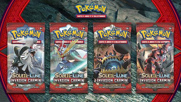 JCC Pokémon dans l'extension <em>Soleil et Lune – Invasion Carmin</em>
