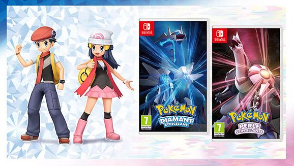 Repartez pour la région de Sinnoh avec Pokémon Diamant Étincelant et Pokémon Perle Scintillante à partir du 19 novembre 2021