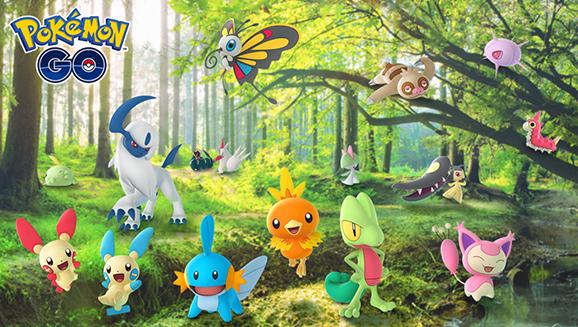 Participez à l'évènement de célébration de Hoenn dans Pokémon GO, et attrapez Kyogre, Groudon et d'autres