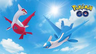 Latias et Latios survolent Pokémon GO