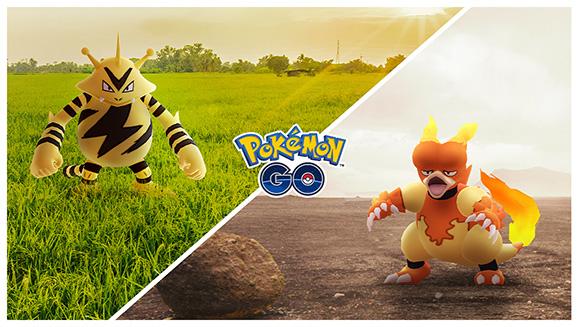 Profitez de deux Journées Communauté en novembre dans Pokémon GO avec Élektek puis Magmar