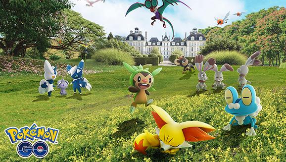 Des Pokémon découverts dans la région de Kalos font leurs débuts dans Pokémon GO