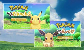 Découvrez la version démo de Pokémon : Let's Go, Pikachu et Pokémon : Let's Go, Évoli !