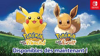 Pokémon : Let's Go, Pikachu et Pokémon : Let's Go, Évoli sont enfin là !