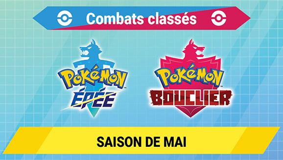 Prouvez votre maîtrise des combats Pokémon lors de la saison de mai 2021 des combats classés