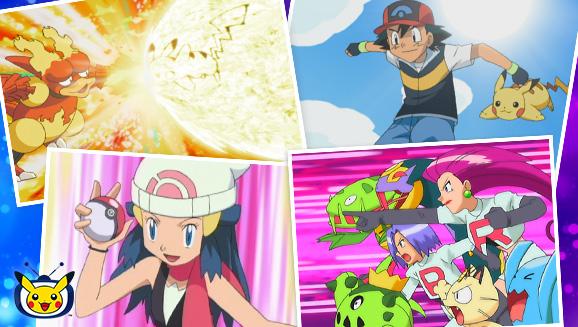 Sacha se dirige vers la région de Sinnoh sur TV Pokémon