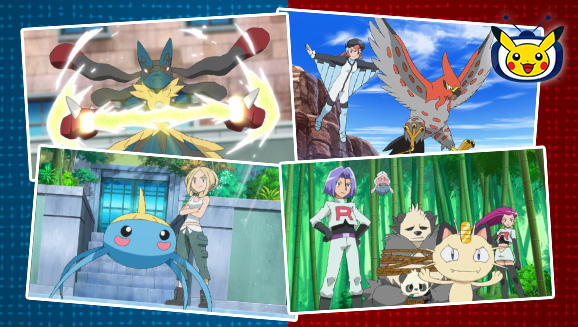 Sacha entre dans la région de Kalos sur TV Pokémon