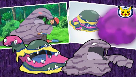 Grotadmorv et Grotadmorv d'Alola sont crasseux à souhait sur <em>TV Pokémon</em>
