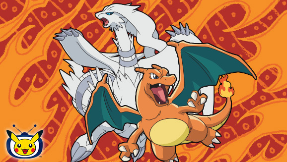 Reshiram et Dracaufeu illuminent <em>TV Pokémon</em>