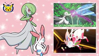 Gardevoir et Nymphali sont invités sur TV Pokémon.