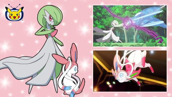 Gardevoir et Nymphali sont invités sur <em>TV Pokémon</em>.