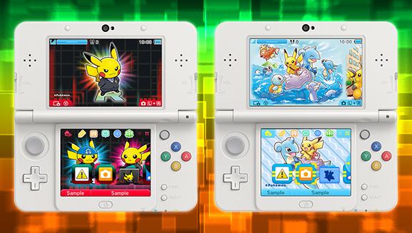 Pikachu si diverte in due nuovi temi per console della famiglia Nintendo3DS