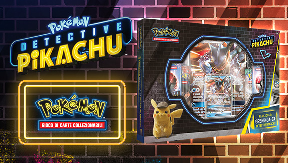 Fascicolo Greninja-<em>GX</em> dell'espansione <em>Detective Pikachu</em>