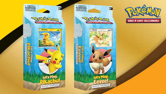 <em>Let's Play, Pikachu!</em> e <em>Let's Play, Eevee!</em> del GCC Pokémon Mazzi tematici