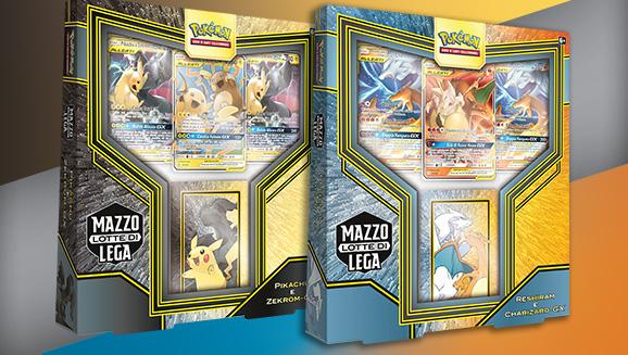 Mazzo Lotte di Lega Pikachu e Zekrom-<em>GX</em> e Reshiram e Charizard-<em>GX</em>