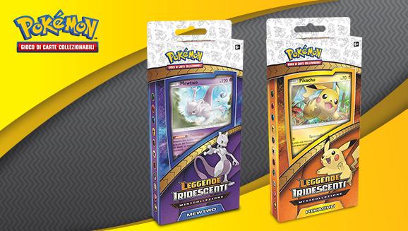 Minicollezioni Pikachu e Mewtwo dell'espansione <em>Leggende Iridescenti</em>
