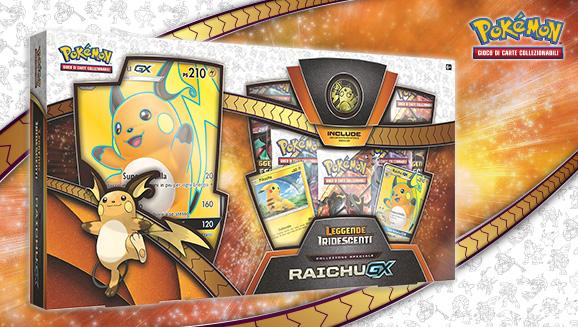 Collezione speciale Raichu-<em>GX</em> dell'espansione <em>Leggende Iridescenti</em>