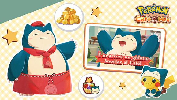 Far entrare Snorlax nel tuo staff è un gioco di squadra in Pokémon Café Mix