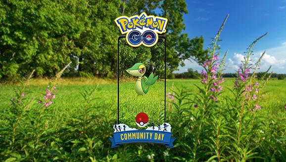 Il sole splende su Snivy durante il Community Day di aprile di Pokémon GO