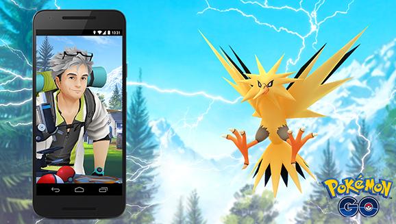 Sbrigati a catturare Zapdos in <em>Pokémon GO</em>!
