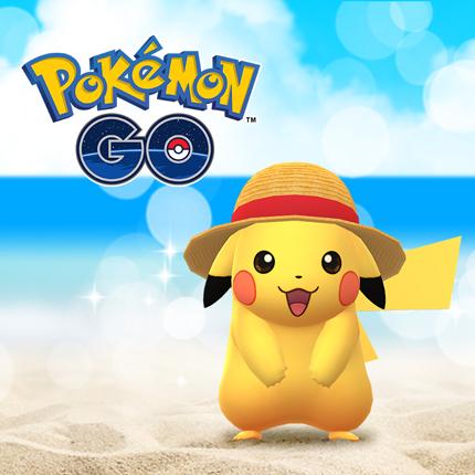Pikachu sfoggia un cappello di paglia su Pokémon GO
