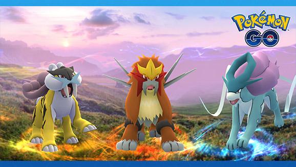 I Pokémon leggendari di Johto arrivano in <em>Pokémon GO</em>!