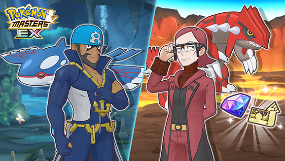 Con Kyogre e Groudon in Pokémon Masters EX il clima si fa pesante