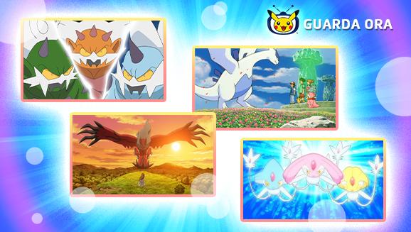I Pokémon leggendari la fanno da padrone su TV Pokémon