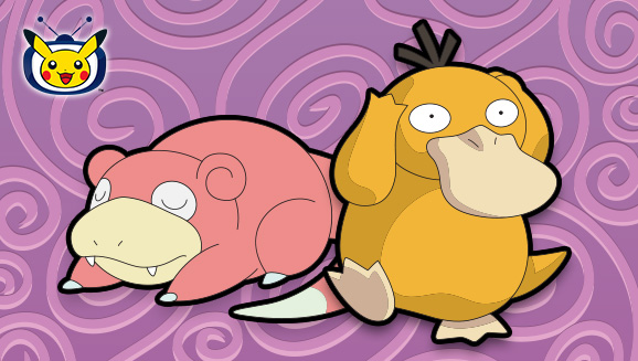 Tuffati in TV Pokémon con Slowpoke e Psyduck