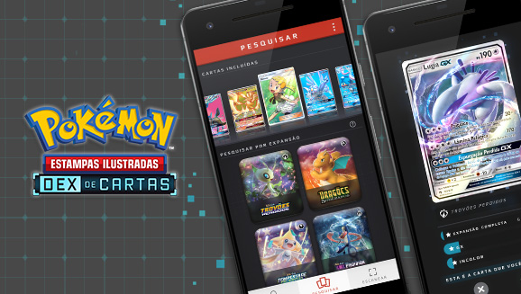 Dex de Cartas do Pokémon Estampas Ilustradas