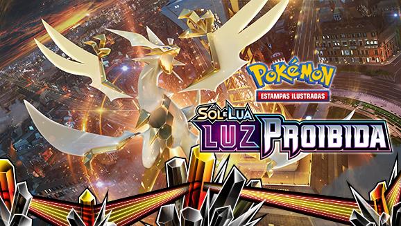 <em>Sol e Lua — Luz Proibida</em> do Pokémon Estampas Ilustradas