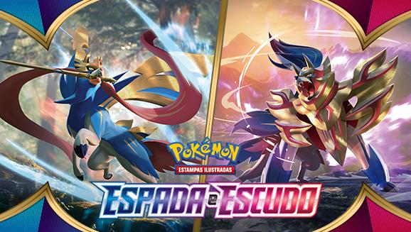 Prepare-se para a batalha com a expansão Espada e Escudo do Pokémon Estampas Ilustradas