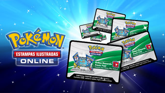 Resgate códigos do Pokémon Estampas Ilustradas Online em www.pokemon.com/br