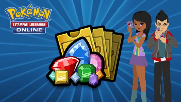O Pokémon Estampas Ilustradas Online encerrará o uso de joias e a venda de bilhetes de evento