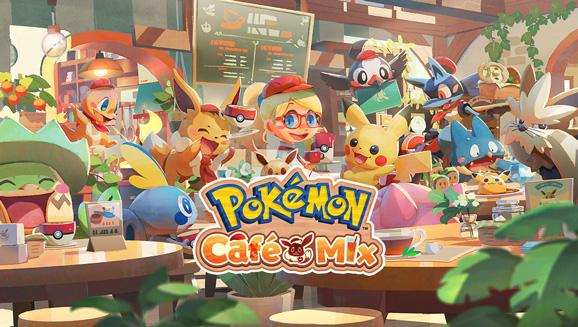 Весело накрывай на стол в игре Pokémon Café Mix!