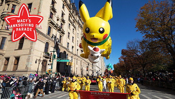 Pikachu Brings Miles of Smiles on Thanksgiving