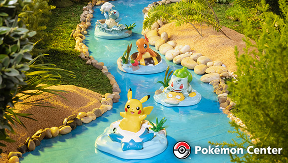 Dream of a Relaxing River Adventure with Pokémon Center Figures