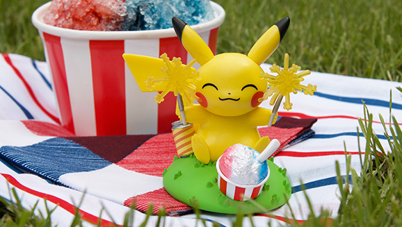 Pikachu and Funko Light Up Summer