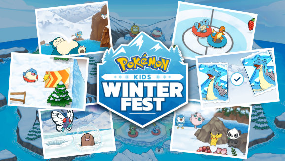 Winter Fun with Pikachu and Friends