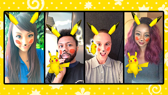 Take Pikachu Portraits on Snapchat