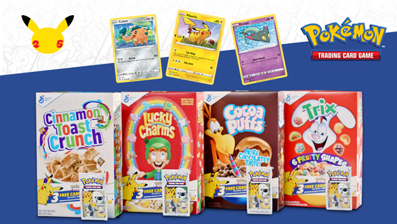 New Pokémon TCG Cards in Select General Mills Cereals