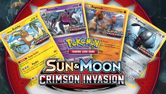 <em>Sun & Moon—Crimson Invasion</em> Prerelease Tournament Info