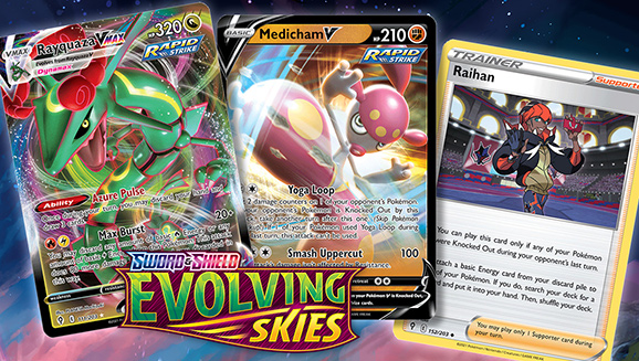 Level Up with Powerful Cards in Sword & Shield—Evolving Skies