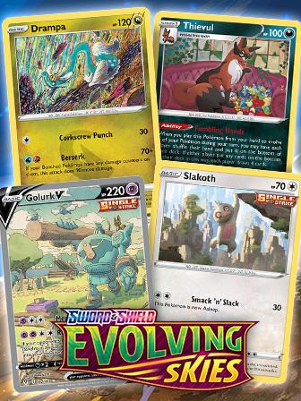 Pokémon TCG: Sword & Shield—Evolving Skies Art