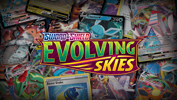 Browse the Cards of Sword & Shield—Evolving Skies!