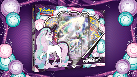 Unleash Psychic Powers with a Pokémon TCG: Galarian Rapidash V Box!